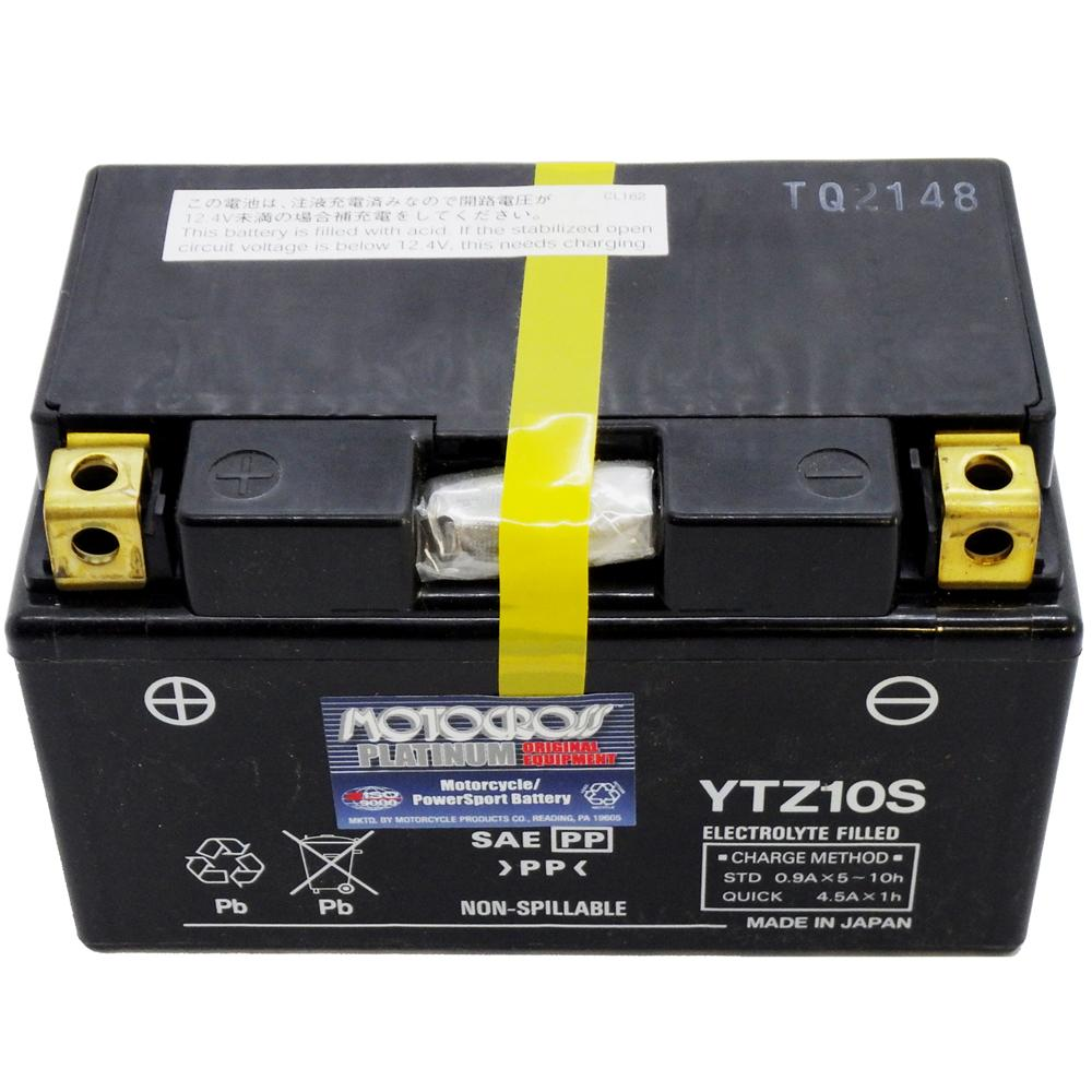 YTZ10S High Performance 12V AGM MC Battery, FA, 8.6 AH, 190 CCA  M7210A