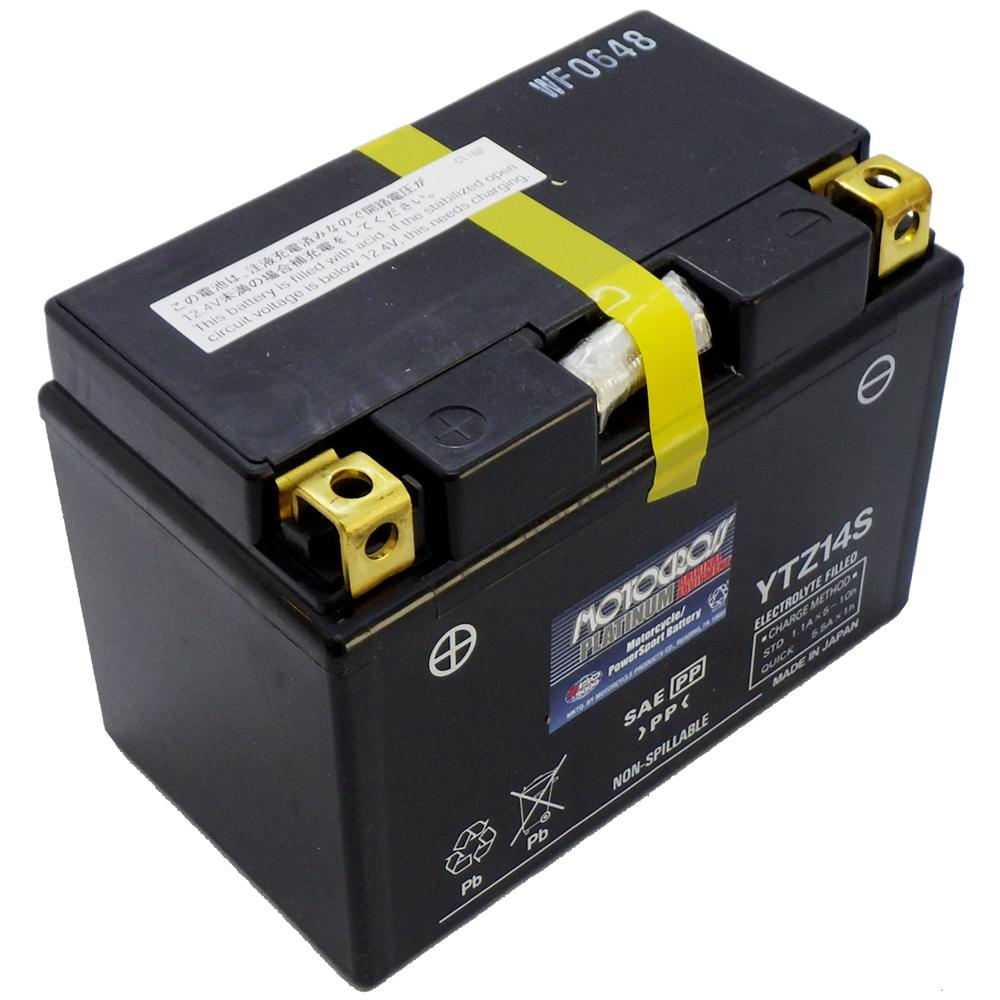 YTZ14S High Performance 12V AGM MC Battery, FA, 11.2 AH, 230 CCA  M72Z14