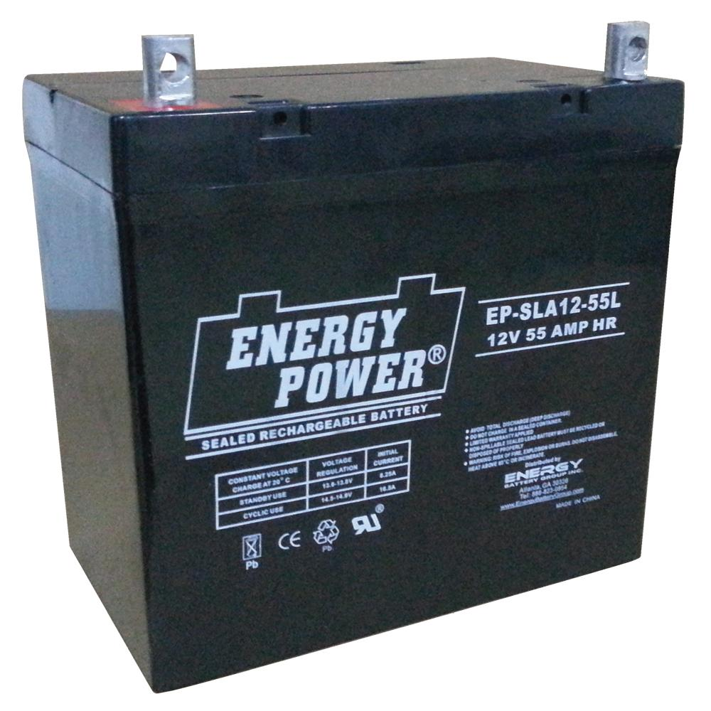 Energy Power 12V, 55AH SLA AGM Battery (22NF) - L (M8)