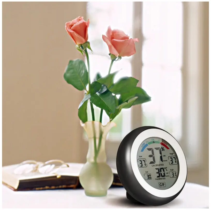 Multifunctional Digital Touch Screen Wireless Indoor Thermometer Hygrometer Temperature Humidity Meter ℃/℉