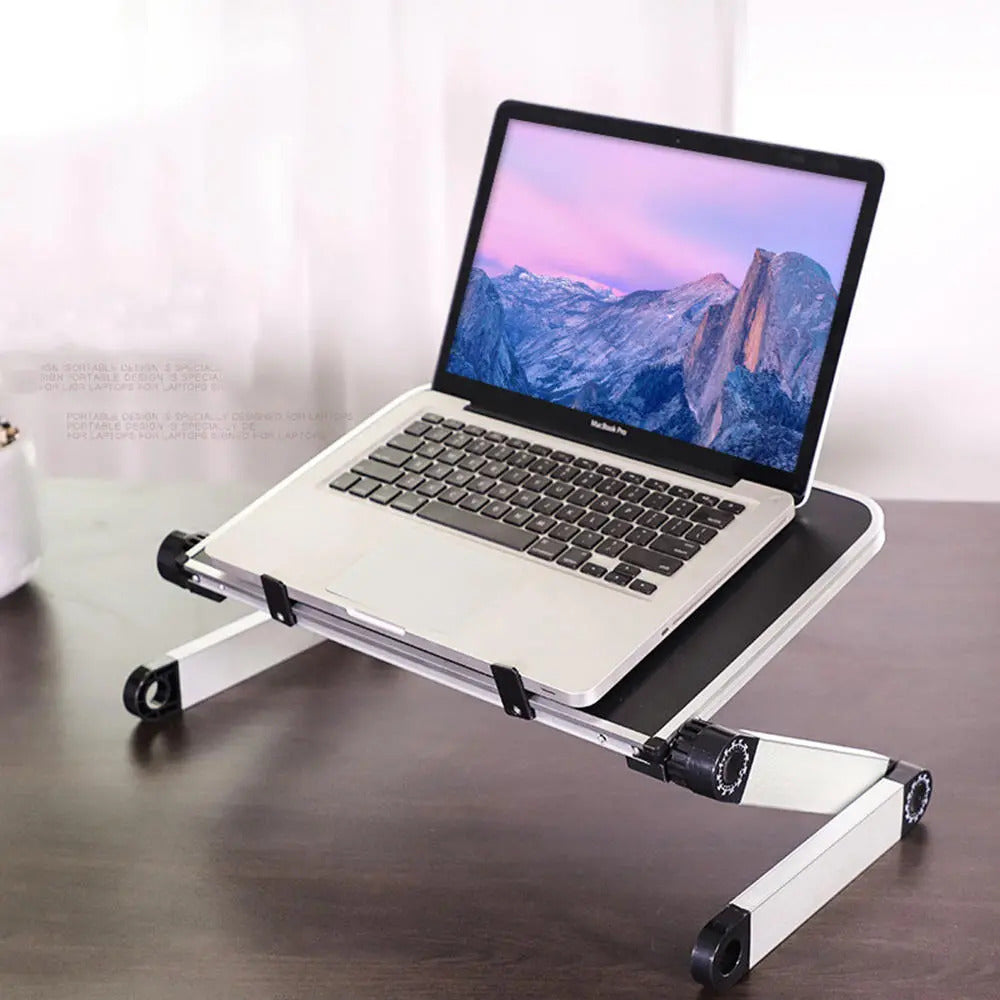 PostureBook™ Computer Notebook Macbook Portable Stand with Adjustable Monitor Riser Arm