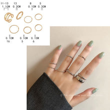 Load image into Gallery viewer, Harajuku Fashion Adjustable Ring Set for Women