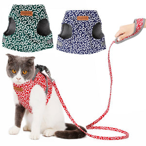 Reflective Cat Harness And Leash Set