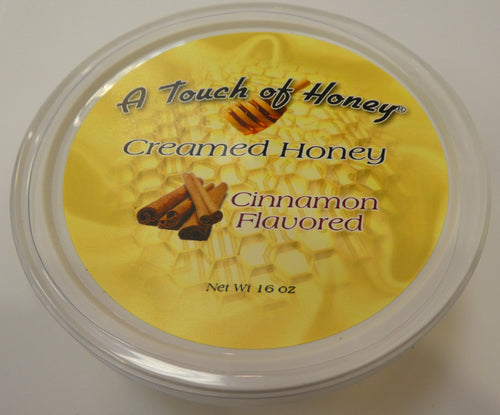 A Touch of Honey Cinnamon Flavored Creamed Honey Tub