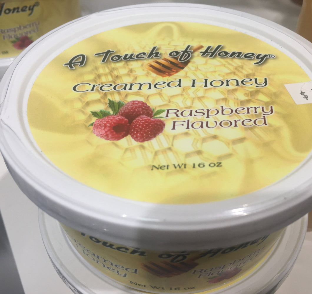 A Touch of Honey Raspberry Flavored Creamed Honey 1 pound tub