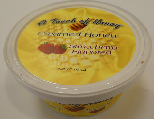 A Touch of Honey Strawberry Flavored Creamed Honey Tub