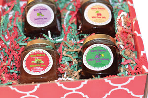 Berry Dakota 4 Ounce Jelly 4 Pack Holiday Gift Pack