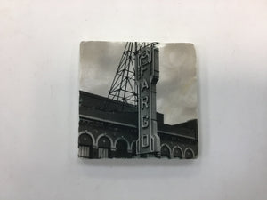 Fargo Theater Sign (black and white) Coaster