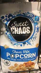 Sweet Chaos Chaos Mix Caramel and Cheddar Cheese  7.05 ounce bag