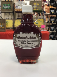 Natures Arbor Chocolate Raspberry Wine Syrup 8 ounce jar