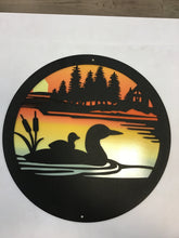 Load image into Gallery viewer, Loon 2 Piece 12 inch Metal Round