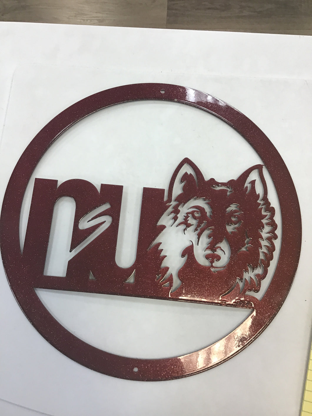 "Northern State University Wolves (Aberdeen, SD) 12"" Metal Round"