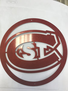 St Cloud State University Huskies 12 inch Metal Round