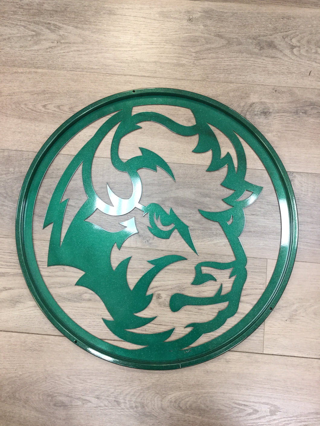 "North Dakota State University Bison Head 24"" Metal Round"