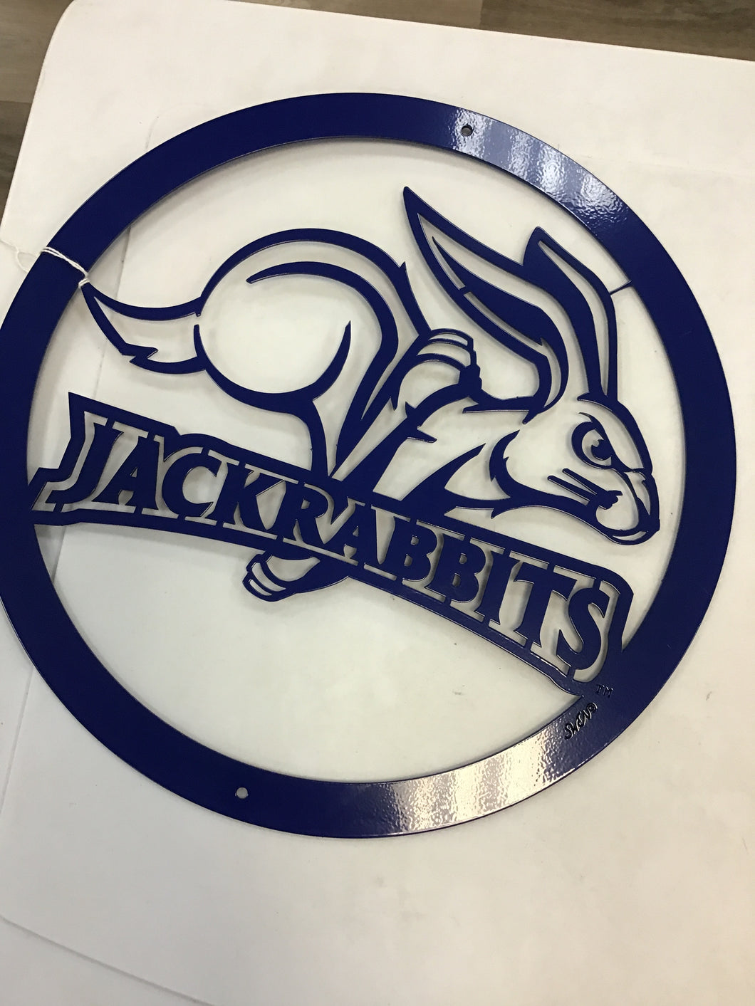 "South Dakota State University Jackrabbits 12"" Metal Round"