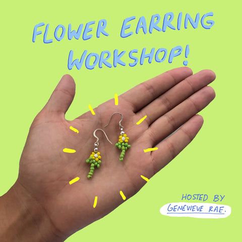 Beaded Jewellery: Flower Earring workshop