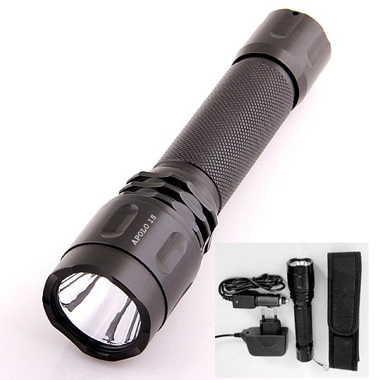 APOLLO 15 Rechargeable Tactical LED Flashlight