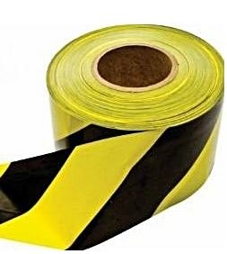 Yellow and Black Marking Tape