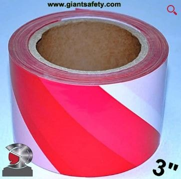 Red and White Marking Tape RD-3