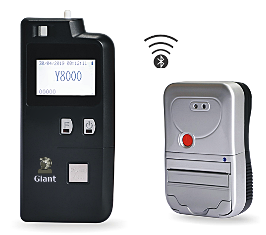 Breathalyzer with printer alcohol tester