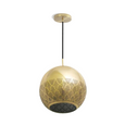 Brass patterned pendant light