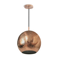 Copper perforated pendant light