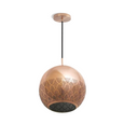Copper patterned pendant light