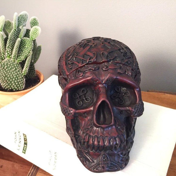 Handcarved Day of the Dead Jewelry Holder