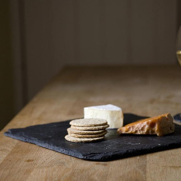 Slate square cheeseboard set