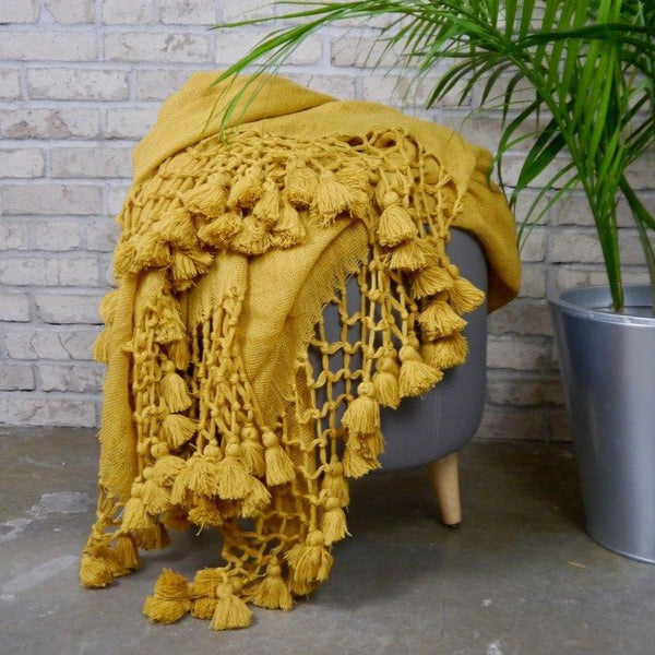 Tunisian Tumeric Wool Throw