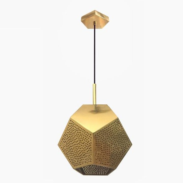 Brass geometric pendant light