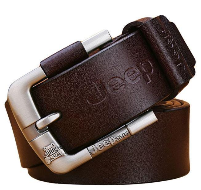 Cinto Masculino em Couro Jeep Authentic Model Original