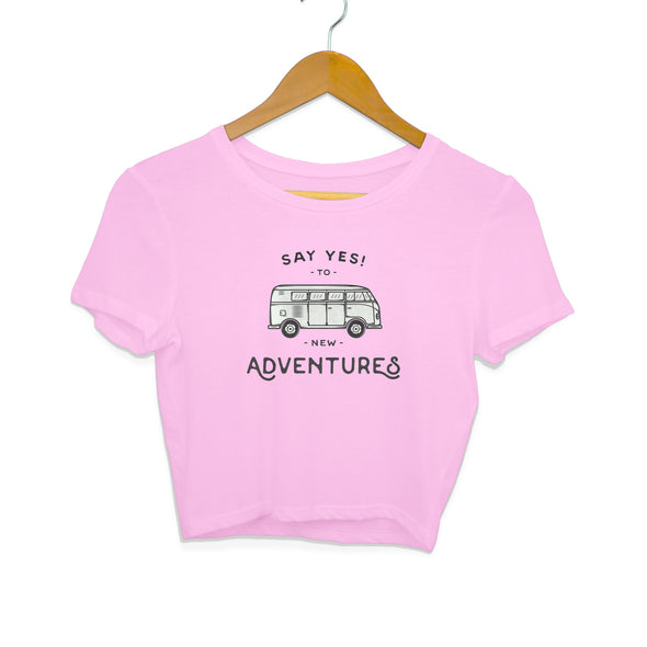 New Adventures Women's Crop Top - GOGIRGIT.COM