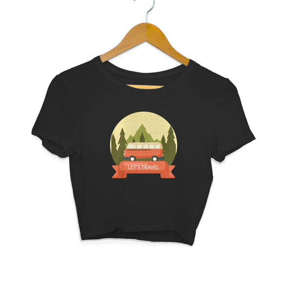 Let's Travel Women's Crop Top - GOGIRGIT.COM