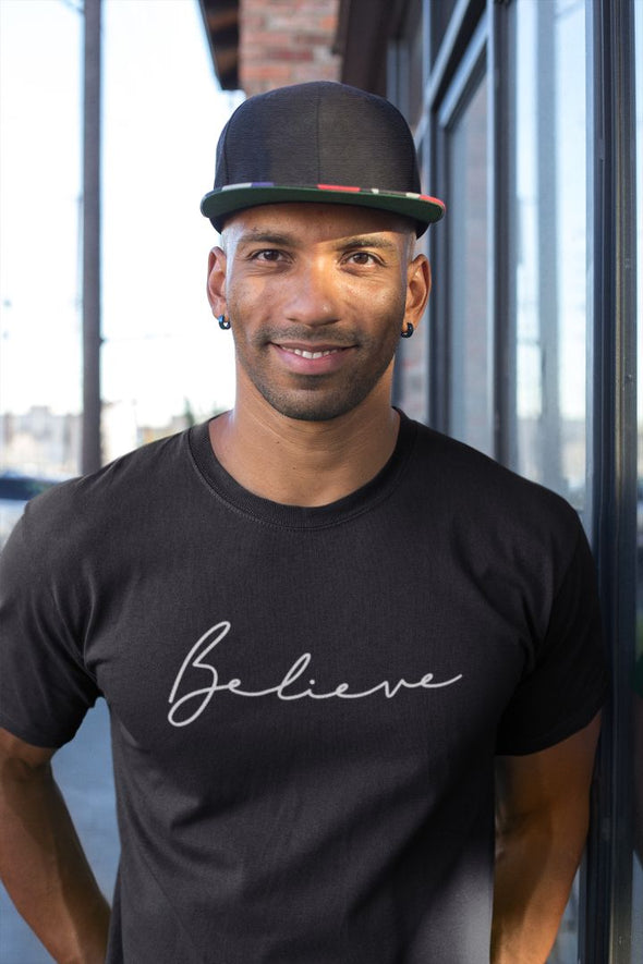 Believe Men's Black T-shirt