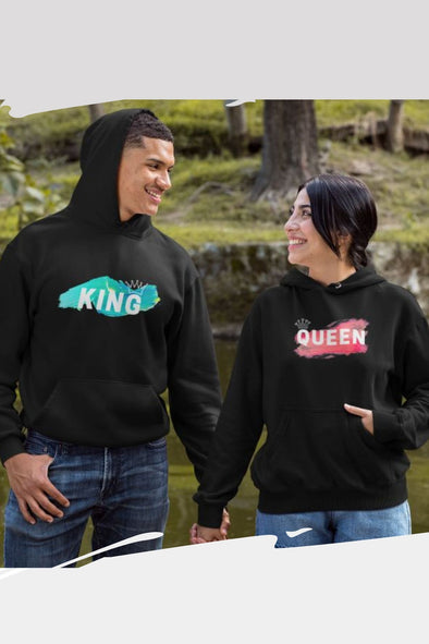 GOG-COUPLEHOODIE-BLACK-KING AND QUEEN