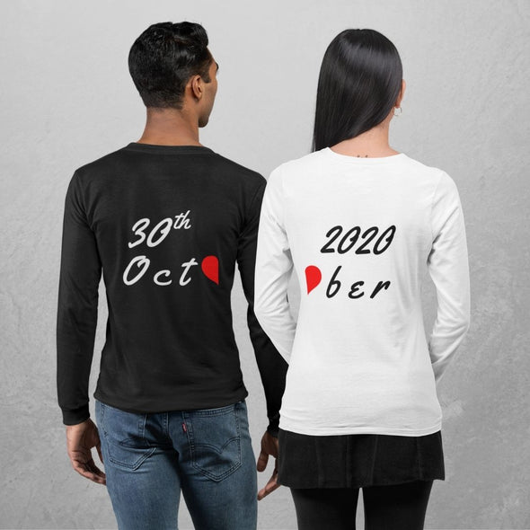 Custom Made Couple T shirts For Pre Wedding Shoots