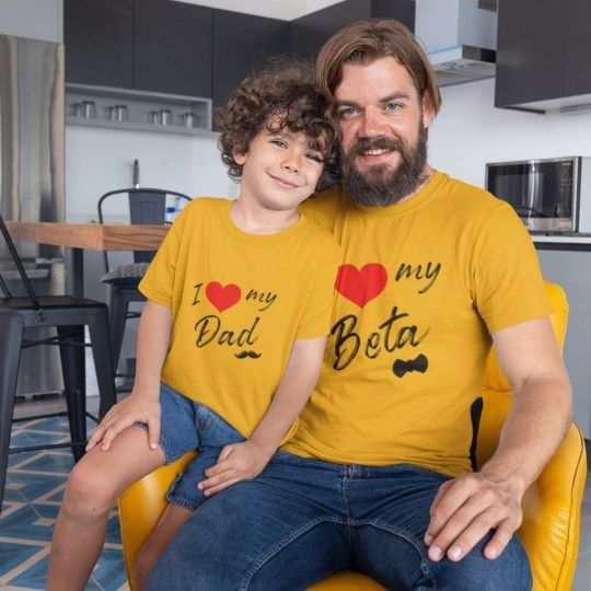 I-LOVE-MY-DAD-SON-GOLDEN-YELLOW-MATCHING-TSHIRTS-GOGIRGIT-COM