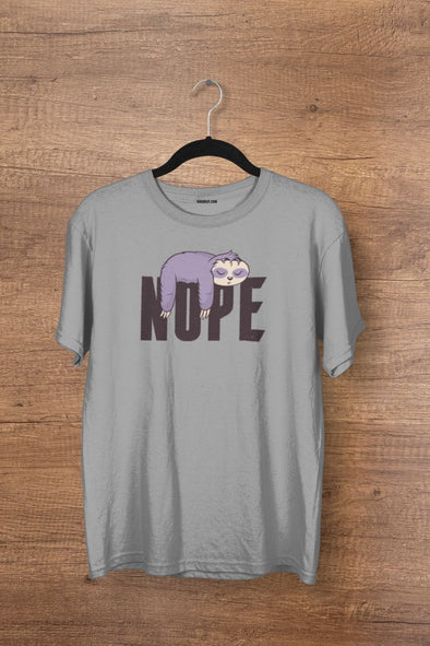 Nope Lazy Panda Steel Grey Men's T-shirt - GOGIRGIT.COM