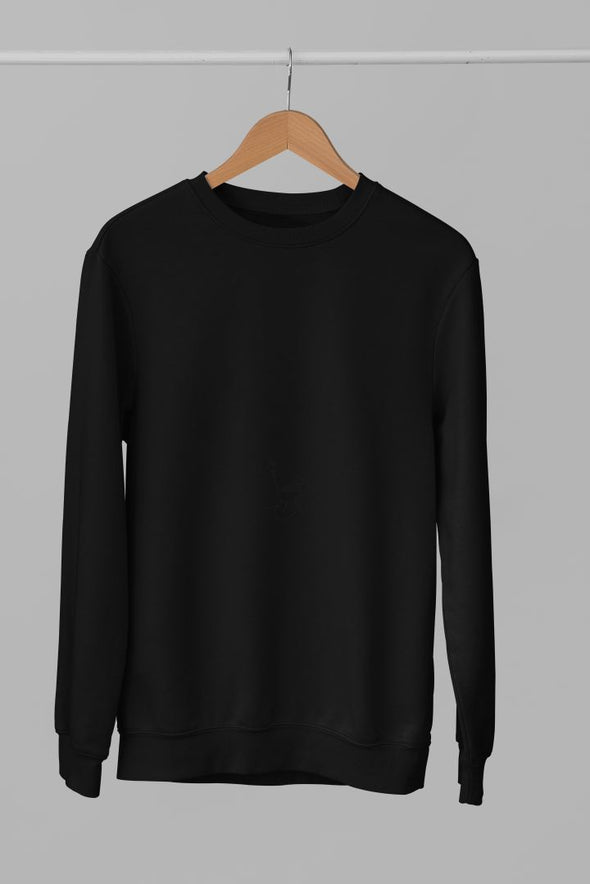Crew-Neck-SWEATSHIRT-PLAIN-SOLID-BLACK-WINTERWEAR-UNISEX