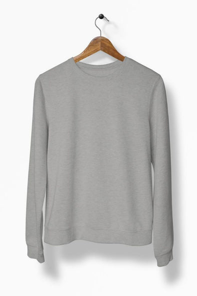 Crew-Neck-SWEATSHIRT-PLAIN-SOLID-GREY-MELANGE-WINTERWEAR-UNISEX