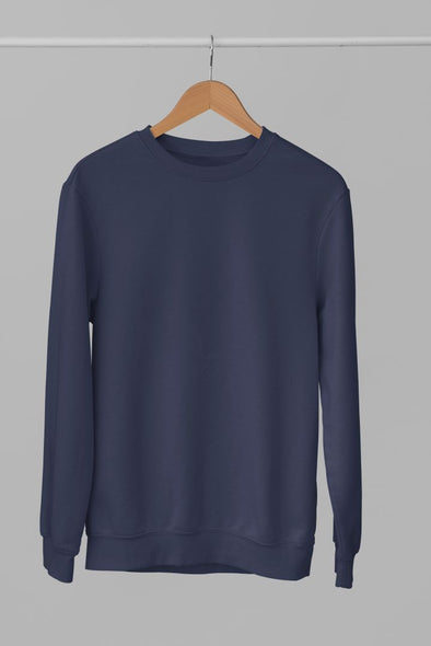 Round-Neck-SWEATSHIRT-PLAIN-SOLID-NAVY-BLUE-WINTERWEAR-UNISEX