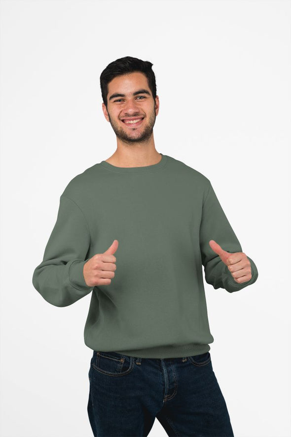 Plain Olive Green Sweatshirt