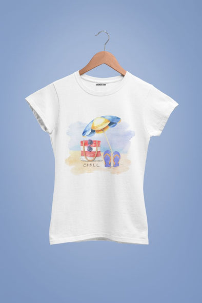 white-chill-on-the beach-women-t-shirt