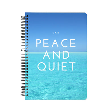 Peace and quiet 2021 wire binding notebook