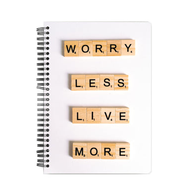 Live more A5 notebook