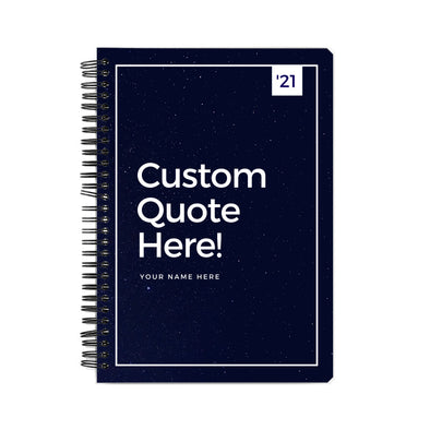 Personalized Notebook Navy Blue - Customize As You Like