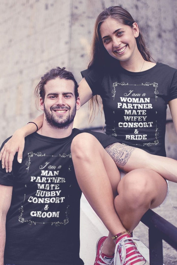 I Am A Man Black Couple Tee