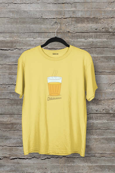 Charge Men's Half Sleeve Yellow Foodie T-shirt - GOGIRGIT.COM