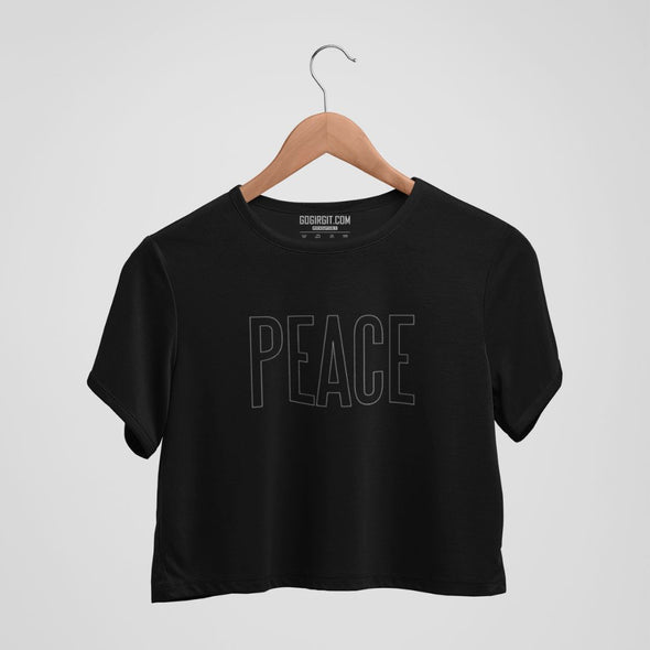 Peace Women's  Yoga Crop Top
